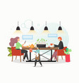 social distancing for restaurant reopening vector image