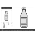 Soft drink line icon vector image vector image