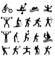 sports and training icons vector image vector image