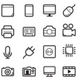 technology thin line icon set vector image vector image