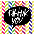 thank you chevron colorful vector image vector image