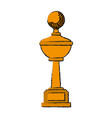 trophy golf icon image vector image vector image
