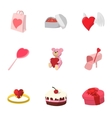 Valentines day february 14 icons set vector image vector image