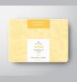 vanilla soap cardboard box abstract vector image vector image