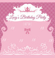 vintage birthday invitation card template vector image vector image