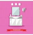 washbasin and accessories vector image vector image
