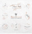 wedding monogram collection invitation cards vector image vector image