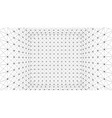 wireframe polygonal box vector image vector image