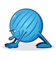 yoga ball cartoon downward facing dog vector image