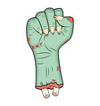 zombie hand fist gesture halloween - realistic vector image