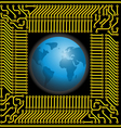 Earth in Microchip vector image