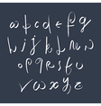 Hand written fresh font stylish drawn alphabet vector image