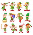 many elfs cartoon vector image