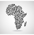 Abstract Africa map Eps 10 vector image vector image