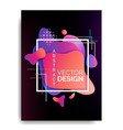 abstract flowing liquid elements poster a4 vector image vector image