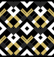 abstract geometric golden pattern with stripes vector image vector image