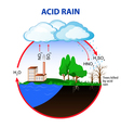 Acid rain vector image vector image
