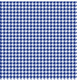 Blue-white houndstooth background -seamless vector image vector image