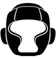 boxing helmet icon vector image vector image