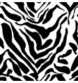 brush painted zebra seamless pattern black and vector image vector image