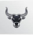 bull logo icon design vector image vector image