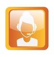 call center icon symbol design vector image