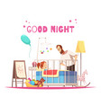 children room sleep time composition vector image