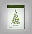 christmas brochures book or flyer with abstract vector image vector image