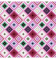 colorful geometrical diagonal square mosaic tile vector image vector image