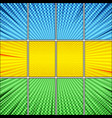 comic page horizontal composition vector image
