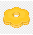 cookie flower shaped icon cartoon style vector image vector image