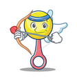 cupid rattle toy character cartoon vector image