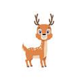 cute baby deer lovely animal cartoon character vector image