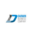 darwin business company letter d icon vector image vector image