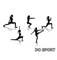 do sport vector image vector image