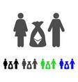 family ethereum deposit bag flat icon vector image