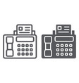 fax line and glyph icon print and device printer vector image