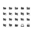 Folders flat glyph icons set file catalog