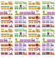 Game gift kids train seamless pattern background