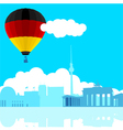 Germany Flag Air Balloon vector image vector image