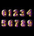 gold numbers in 3d style vector image vector image