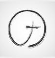 gray christian cross icon vector image vector image