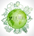 Green Eco Earth Ecology concept vector image