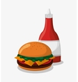 Hamburger of fast food concept vector image vector image