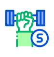 hand dumbbell icon outline vector image