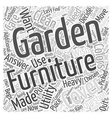 how essential are garden furniture covers Word vector image vector image