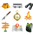 icons tourism vector image vector image