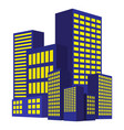 image of modern building urban cityscape city vector image