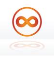 infinity symbol orange vector image