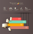 Infographics graph paper roll vertical design vector image